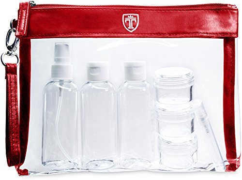 TRAVANDO  Trousse de Toilette Transparente + 7...
