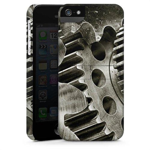 Apple iPhone 4 Housse Étui Silicone Coque Protection Mécanique Roues dentées Boîte de vitesses engrenage CasStandup blanc