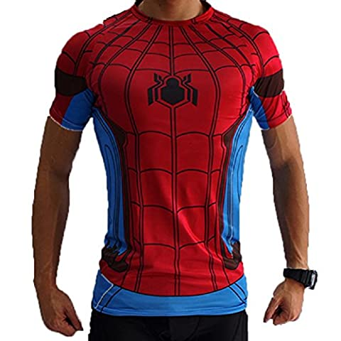 Samanthajane Clothing LTD Herren T-Shirt Gr. Small, Spiderman Red/Blue (Steel Blue T-shirt)