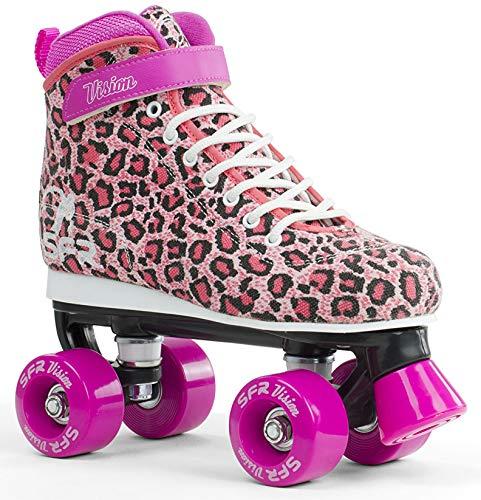 SFR Vision Canvas Rollschuhe Disco Roller Kinder rosa leopard, 39.5