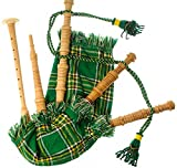 Kids Miniature Playable Bagpipes with Reed in Heritage of Ireland Tartan