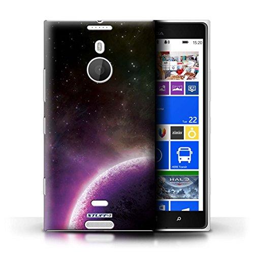 Kobalt® Imprimé Etui / Coque pour Nokia Lumia 1520 / Planète Orange conception / Série Cosmos Planète Pourpre