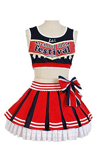 LoveLive! Honoka Kousaka Cheerleaders Uniform Cosplay Kostüm S (Honoka Kostüme)