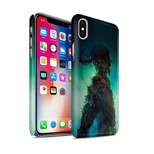 Offiziell Chris Cold Hülle / Matte Snap-On Case für Apple iPhone X/10 / Gevatter Tod Muster / Dämonisches Tier Kollektion Gehörnter Dämon