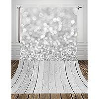 Coloc Photo® 150*220cm gris bokeh studio photo fond backfrop en le tissu de l'art imprimé avec blanc étage pour nouveau - né D-9732