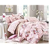 100% Pure Cotton Double Luxurious Comforter Set And Queen Size Bedsheets With 2 Pillow Covers