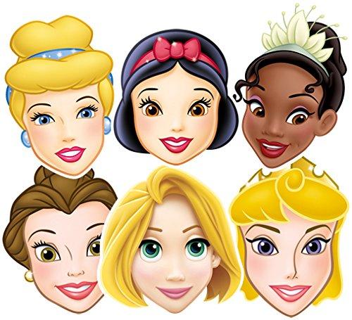 mp50-6Masken für Erwachsene verschiedenen Prinzessinnen-Disney-Einheitsgröße ()