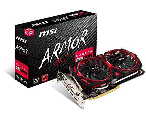 Price comparison product image MSI Gaming Radeon RX 570 256-bit 8GB GDRR5 DirectX 12 VR Ready CFX Graphcis Card (RX 570 ARMOR MK2 8G OC)