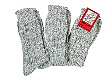 3 Paar Norweger Schafwollsocken für Damen und Herren wie selbst gestrickt Größe 35-38