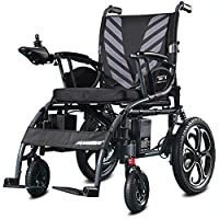 ACEDA Electric Wheelchair, Foldable And Lightweight Powered Wheelchair,Seat Width 45Cm,360° Joystick, Weight Capacity 100KG