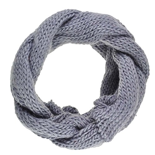 """Cloud9basic Chunky Plait Knitted Plain Cowl Scarf, Infinity Snood for Autumn/Winter, Christmas Gift, Width: 15cm (6"""")"""