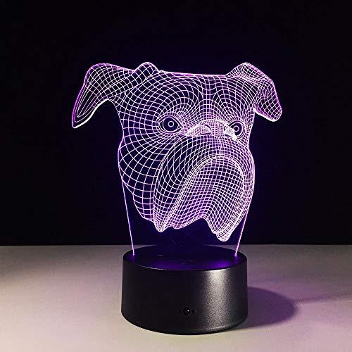 ZNDDB 3D Lampe Nachtlicht Optische Illusions, 7 Farbwechsel Acryl berühren Tabelle Schreibtisch Lampe für Kinder Schlafzimmer Weihnachten Geburtstags Geschenke