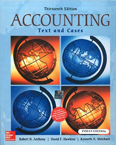 Accounting: Texts And Cases, 13Th Edn