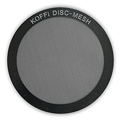KOFFI ® DISC - Metal Filter for AeroPress - Reusable - Stainless Steel Ultra Fine Mesh Disk - For Better Tasting Coffee