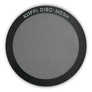 KOFFI ® DISC - Metall Filter für AeroPress - Wieder verwendbar - Ultra Feine Edelstahl Netzscheibe - Für invertiertes Brühen