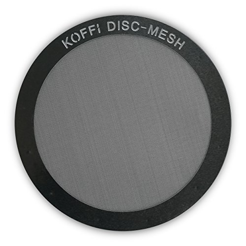 KOFFI ® DISC - Metal Filter for AeroPress - Reusable - Stainless Steel Ultra Fine Mesh Disk - For Better Tasting Coffee Test