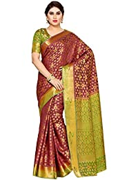 Mimosa By Kupinda Women's Tussar Silk Saree Kanjivaram Style (Latest Designer Sarees /Party Wear Sarees /New Collection...