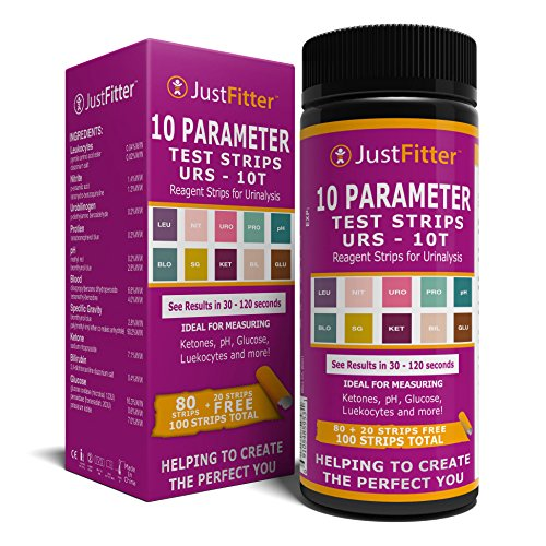 10 Parameter UTI Urin Teststreifen. Urinary Tract Infection Strips. Einfache, Schnelle und Genaue Ergebnisse Urinanalyse Home Testing Stick Kit für Keton, pH, Glucose, Nitrit, Leukozyten und mehr zur Überwachung Ihrer Gesundheit.