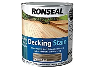 Ronseal DSRT5L Decking Stain Rich Teak 5 Litre