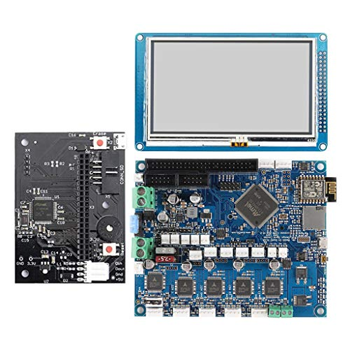 H HILABEE Duet2 WiFi V1.04 aktualisiert Controller Board 32 Bit Elektronik mit 4,3 Zoll LCD 32-bit-lcd