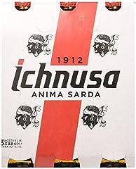 Idea Regalo - Ichnusa Set 8 Birra in Bottiglia 33x3 Vetro Bevanda alcolica da tavola, Multicolore, Unica