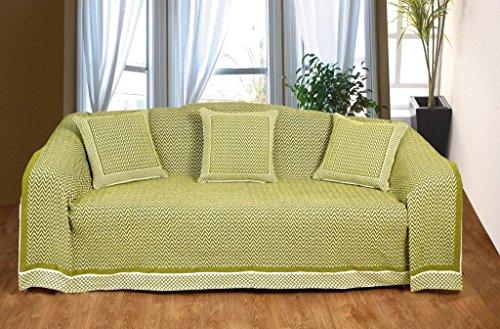 KLiving 50 x 60 cm - 60 pourcent Polyester coton, 40 pourcent Flamestitch Couvre-lit Ocre/naturel