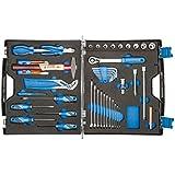 GEDORE Werkzeugkoffer TOURING 1000 - 49-teilig / Ideal für Auto, Boot und Flugzeug / Kunststoffkoffer mit Check-Tool-Einlage