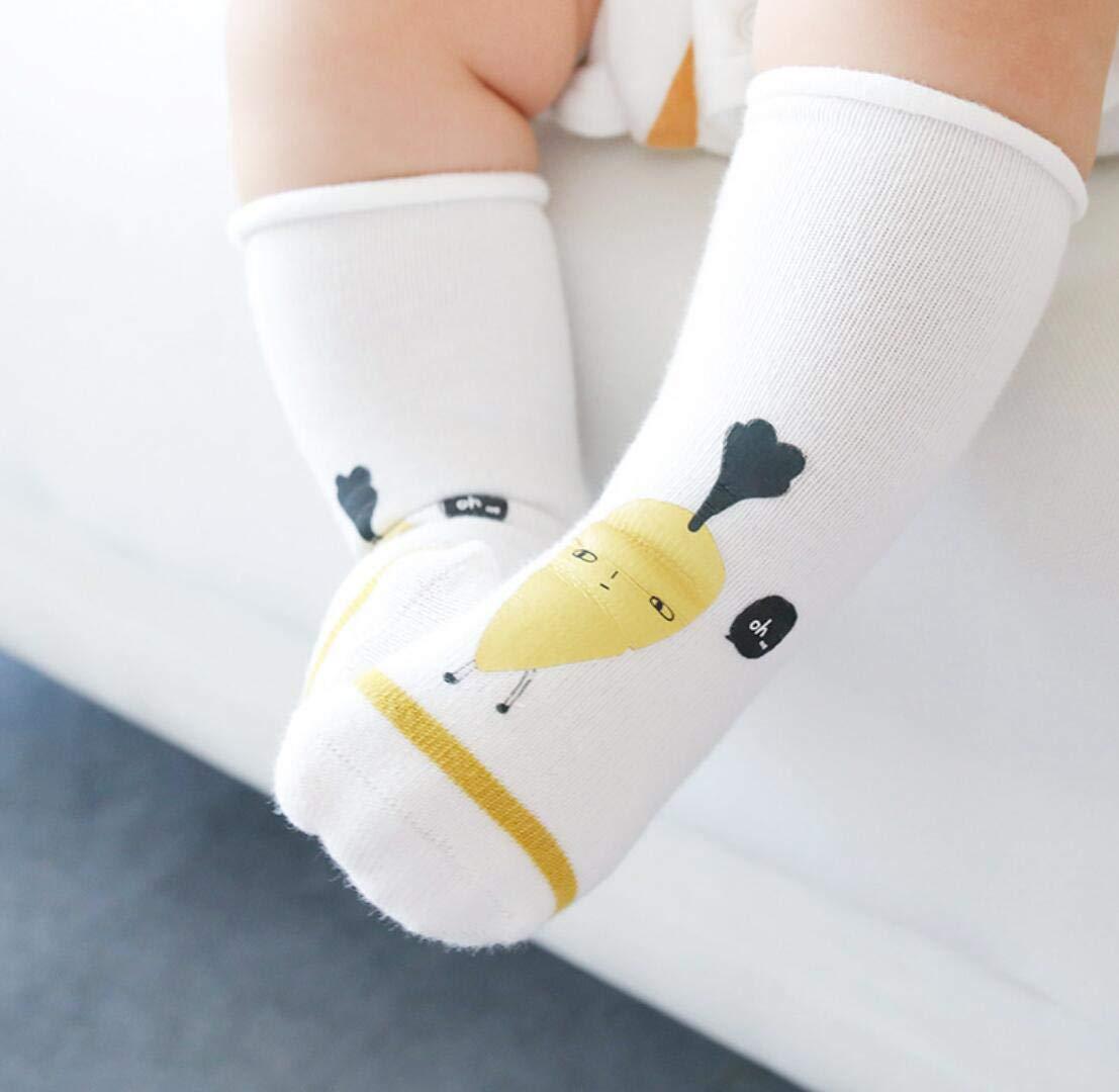 DEBAIJIA 3 Pares de Calcetines de Bebé Unisex Suave Elástico Calcetines Algodón Cálido Lindo Colorido Respirable… 5