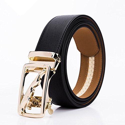 2e8750d669 Cintura da uomo, cinturino con con con fibbia a scatto, fibbia in metallo in  pelle Casual Work Active Basic in pelle, cinture formali regolabili,  selvaggia, ...