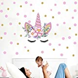 Flyfish Magic Unicorn Wall Stickers Colorful Animals Horse