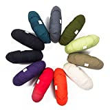 Yogakissen Halbmond »Shankar« / Klassisches Yoga Meditationskissen / 100% Baumwolle / 42 cm x 25 cm / In vielen wunderschönen Farben erhältlich / Blutorange