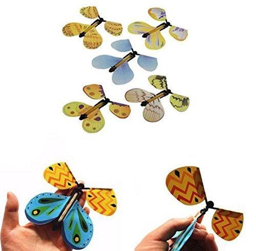 Butterfly Flying Wind Up Butterfly Toy Große Überraschung Hochzeit Requisiten Funny Surprise Prank Witz Mystical Trick Spielzeug Geburtstag Geschenke (bei zufälliger Farbe) (Mir Auf Der Karte Buch)