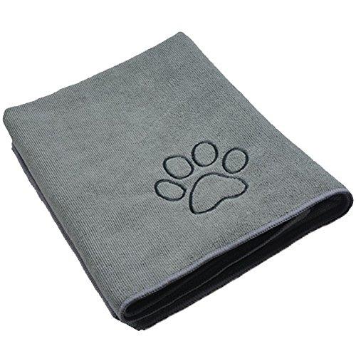 Sinland ultra saugfähiges Mikrofaser Hunde Handtuch 75 x 127 cm Grau
