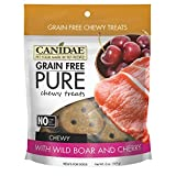 CANIDAE PURE Chewy Treat Boar & Cherry Dog Food Grain Free Wholesome Fruits 6z
