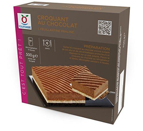 TOUPARGEL - Croquant chocolat feuillantine praliné - 500 g - Surgelé