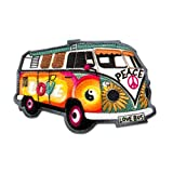 Aufnäher/Bügelbild - Hippie Bus Bully Love Peace Auto - bunt - 7,2x4,8cm - by catch-the-patch Patch Aufbügler Applikationen zum aufbügeln Applikation Patches Flicken