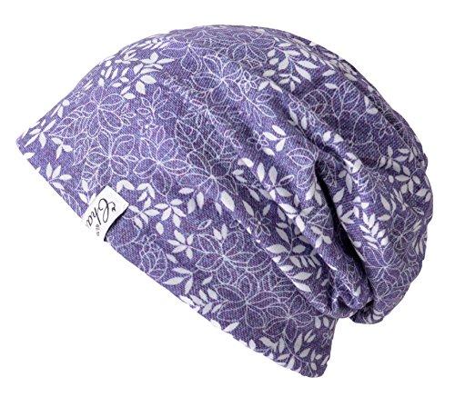 Casualbox Verano Desgarbado Gorros Beanie Sombrero Orgánico Algodón Tablista Hippie Hipster 11 Púrpura