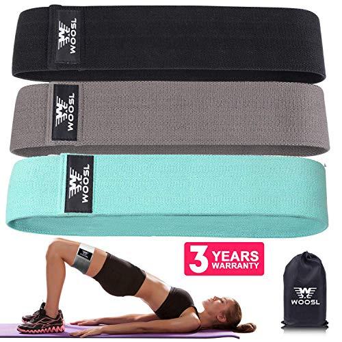 WOOSL Fitnessbänder Set und Doppelseitige Gleitscheiben Stoff Widerstandsbänder,Loop Bänder für Bauchmuskeln,Beine und Hüften - Reisetasche, Schulungs und Rezeptheft enthalten(2019 Verbessere)