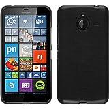 PhoneNatic Case für Microsoft Lumia 640 XL Hülle Silikon Silber Brushed Cover Lumia 640 XL Tasche + 2 Schutzfolien