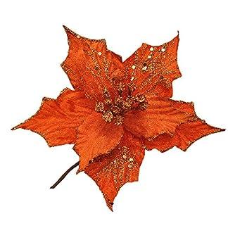 Decoraciones Para Árboles De Navidad Hueca La Navidad Purpurina Artificial De Flor Decoración Del Hogar