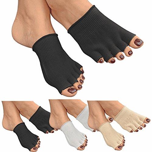 GreatIdeas & # 0153; Gel aperta cinque dita Calzini-Cuscino piedi-evitare Idratante Pelle Secca-Cura del Piede (Bunion Bandage)