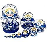 AMOYER Set 10pc Russian Nesting Dolls russischen Matrjoschka russische Puppen
