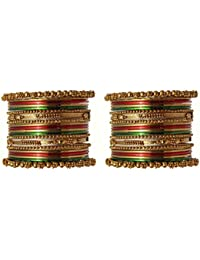 Traditional Antique Gold Tone Color Bangles Partywear Jewellery