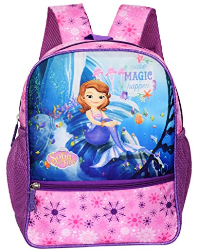 Disney Sofia Mermaid Magic Happen Purple Shimmer School Backpack for Boys & Girls 3+ Years 14 Liter Pink purple (DCP-290-28)  available at amazon for Rs.699