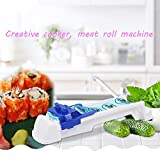 YHFXD Sushi Maker Machine Kit Beinhaltet 1 X Sushi Matte, 1 X Dolma Sarma Roller/Kohl Roller/Gemüse Fleischwalze/Gefüllte Weinblätter Werkzeug Für Anfänger Und Kinder