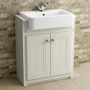 600 mm traditional grey bathroom door vanity unit basin. Black Bedroom Furniture Sets. Home Design Ideas
