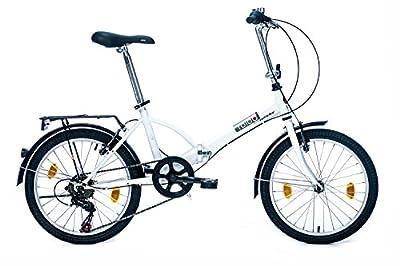 tretwerk DIREKT gute Räder Foldo 1.0 20 Zoll Klapprad, Falt-Fahrrad 6-Gang Kettenschaltung mit Gepäckträger