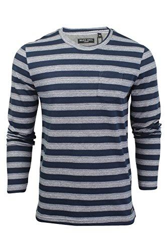 Brave Soul Herren T-Shirt 'Slate' Marine