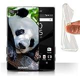 Coque Gel TPU de Stuff4 / Coque pour Sony Xperia Z5 Compact/4.6 / Panda Design / Animaux sauvages Collection