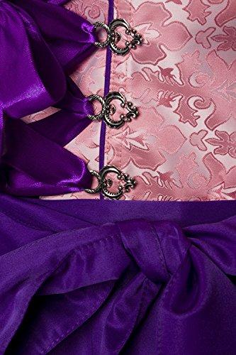 Luxus Designer Dirndl aus Brokat von DIRNDLINE Rosa/Lila